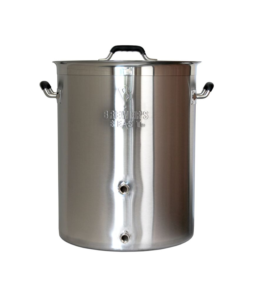 Brewers Best Brewer's Beast Brewing Kettle 8 Gallon Two Ports Complete Setup