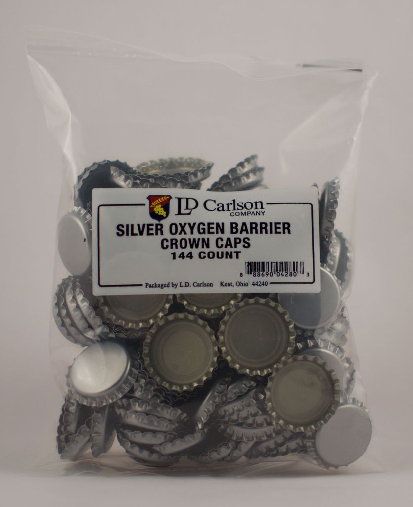 BSG Polished Silver Crowns, 144/caps