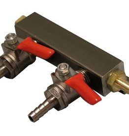 1/4 Barb 2 Way Manifold