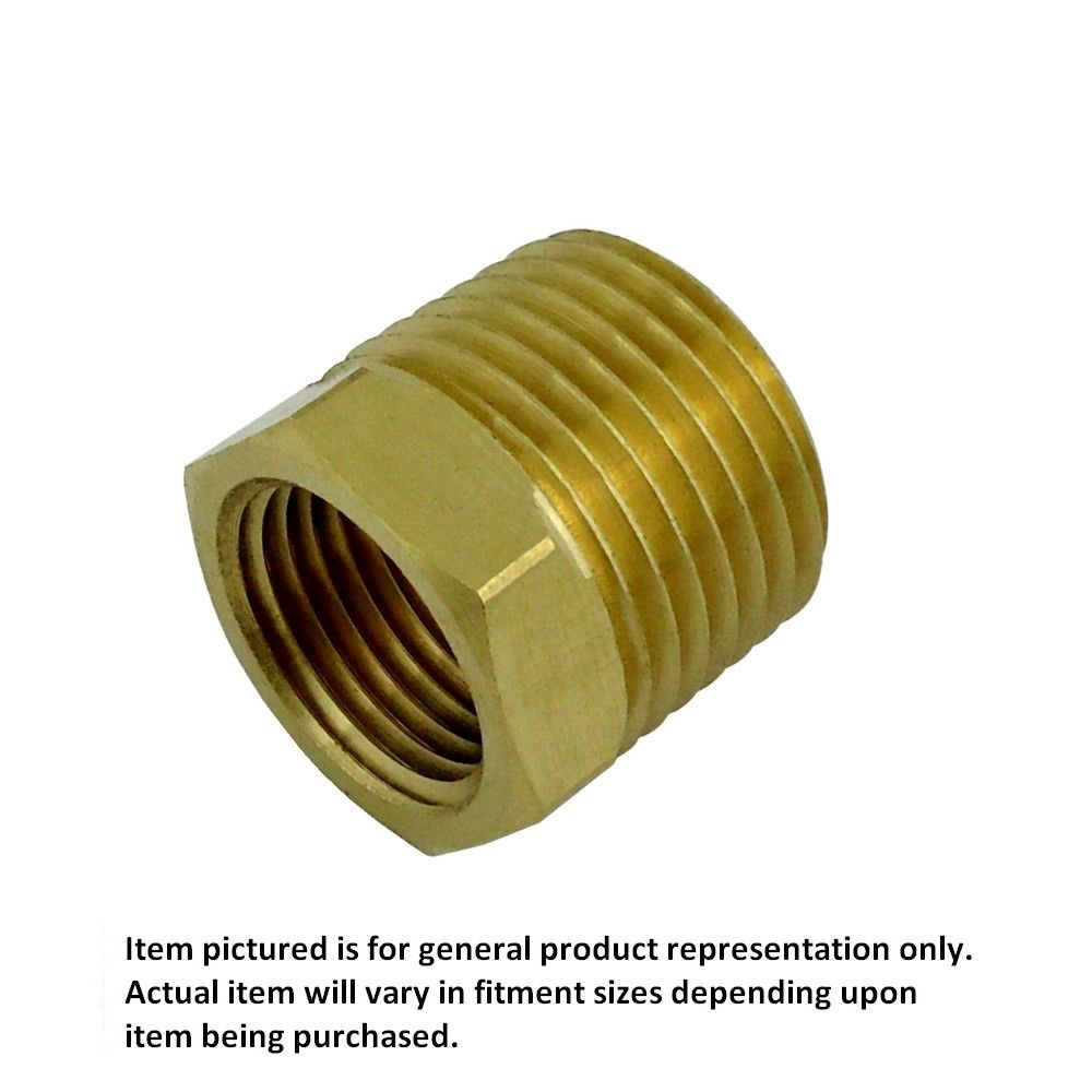 1/2 MPT X 3/8 FPT Bushing Brass