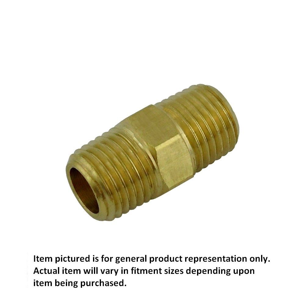 1/4 MPT Hex Nipple RHT Brass