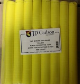 LDC Gloss Yellow PVC Shrink Capsules (500 Bulk)