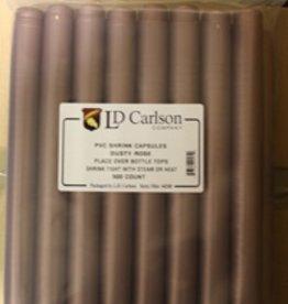 LDC Dusty Rose PVC Shrink Capsules (500 Bulk)