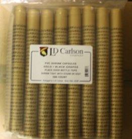 LDC Gold/Black Grapes PVC Shrink Capsules (500 Bulk)