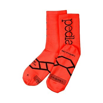 Pedla The Pedla - Spinners sock is a constructed from a core-spun COOLMAX fabric containing unsurpassed moisture management and LYCRA sport stability. Using the latest in knitting machines - the sock is specifically engineered so that the COOLMAX fabric is con