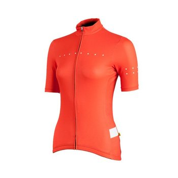 Pedla The Pedla - Full Gas - Pro race cut short sleeve women's specific jersey with Extended Sleeve Length is anatomically shaped to fit closly to the body. Constructed from a  super lightweight Dimple Dry Aero fabric, this set-in-sleeve jersey uses the latest