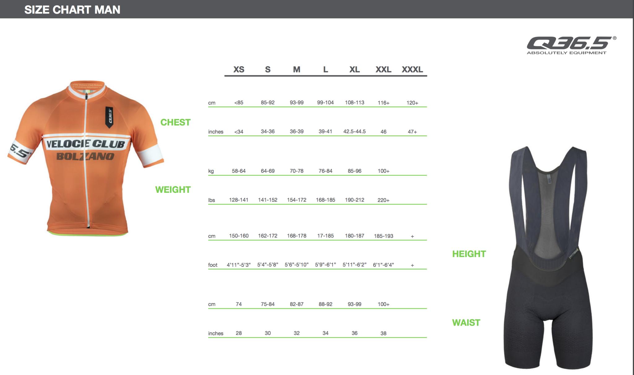 Q36.5 Size Chart