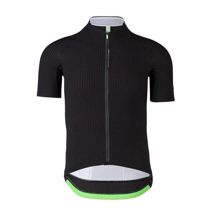 Q36.5 L1 Black Pinstripe Short Sleeve Jersey