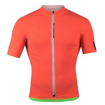 Q36-5 Q36.5 L1 Orange Pinstripe Short Sleeve Jersey