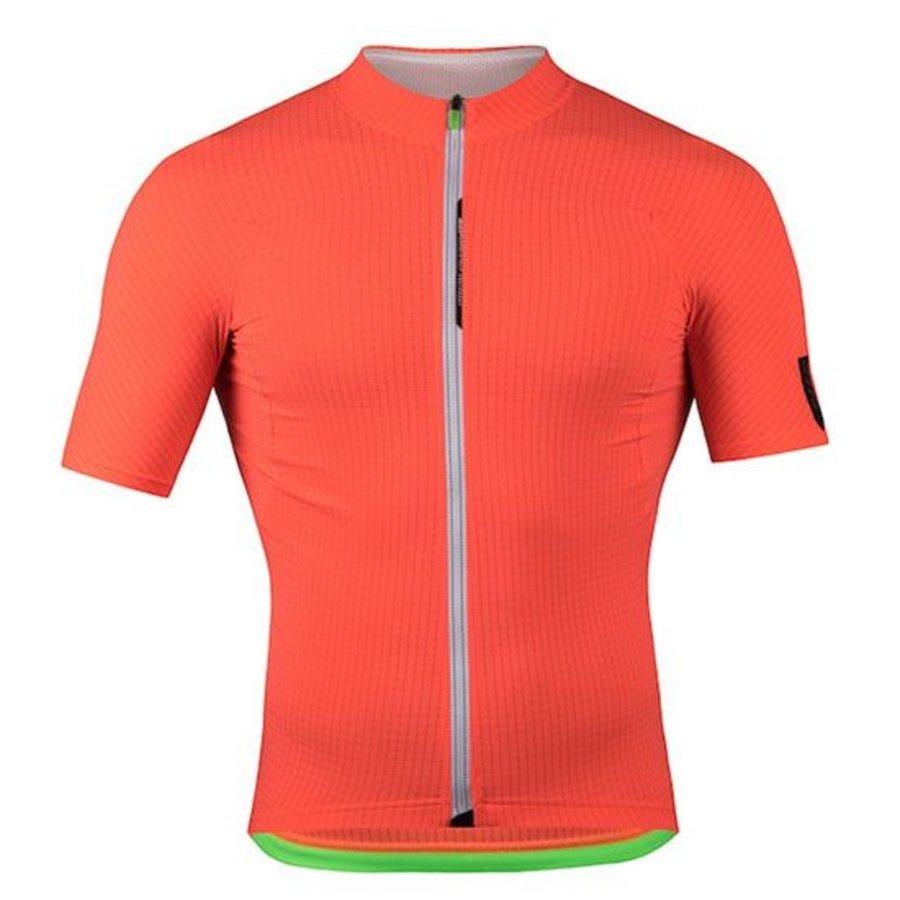 Q36.5 L1 Orange Pinstripe Short Sleeve Jersey