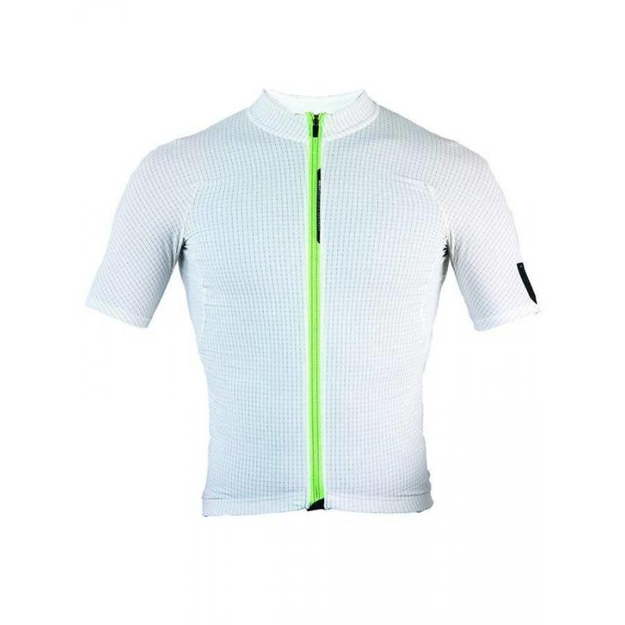Q36.5 L1 White Pinstripe Short Sleeve Jersey