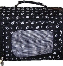 Small Black & White Paw Print Carrier-15