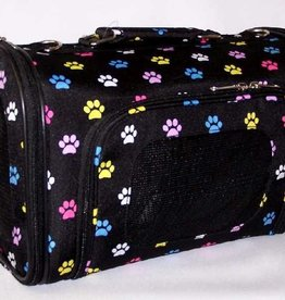 Medium Multi Color Paw Print Carrier 16
