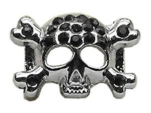 "3/8"" Skull Slider Charm Black 3/8'' (10mm)"