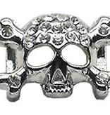 """3/8"""" Skull Slider Charm Clear 3/8'' (10mm)"""