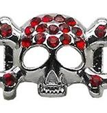 """3/8"""" Skull Slider Charm Red 3/8'' (10mm)"""