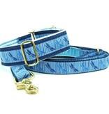 "1-1/2 Wide Martingale Collar Medium 13-18""..Blue Dragonflies"