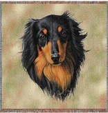 "54"" Lap Square Dachshund Long Hair, Black"