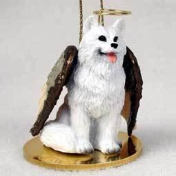 Angel Ornament American Eskimo Dog