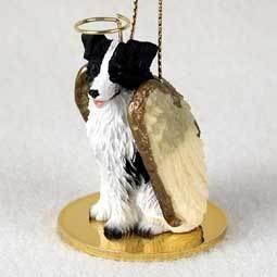 Angel Ornament Border Collie