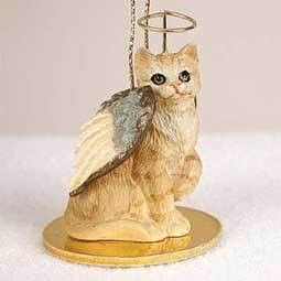 Angel Ornament Cat-Red