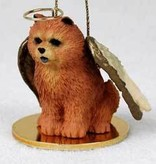 Angel Ornament Chow Chow-Red
