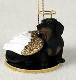 Angel Ornament Dachshund-Black