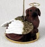 Angel Ornament Dachshund-Red