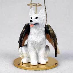 Angel Ornament German Shepherd-White