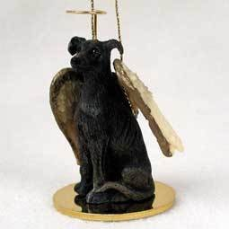 Angel Ornament Greyhound-Brindle