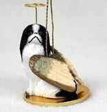 Angel Ornament Japanese Chin-Black/Wht