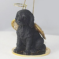 Angel Ornament Labradoodle-Black