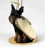 Angel Ornament Miniature Pinscher-Black/T