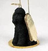 Angel Ornament Poodle-Black