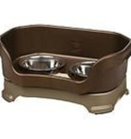 """Neater Feeder for Large Dogs, bronze..11"""" From Floor"""