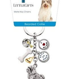 Little Gifts Key Chain Bearded Collie