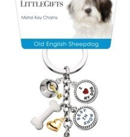 Little Gifts Key Chain Old English Sheepdog