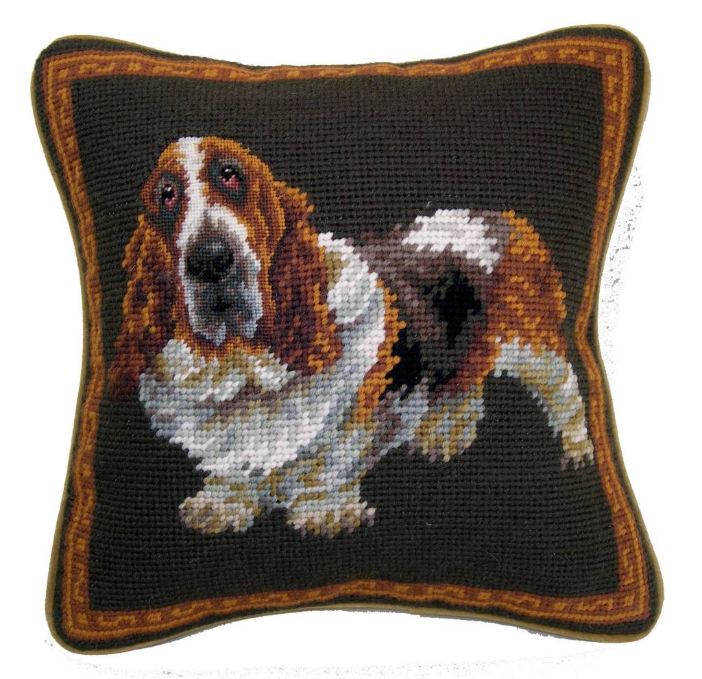 "1o"" Pillow Basset Hound"