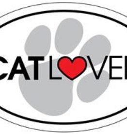 Cat Lover Oval Magnet
