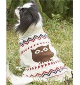 M-Cream Owl Sweater
