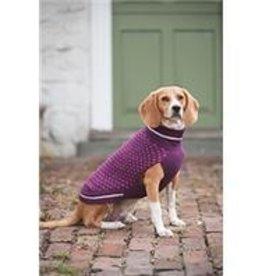 XS-Purple Patterned Sweater