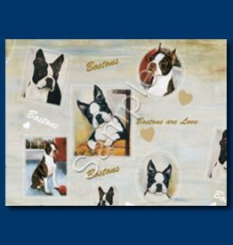 Wrapping Paper Boston Terrier