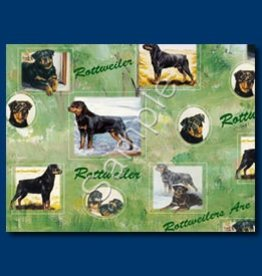 Wrapping Paper Rottweiler