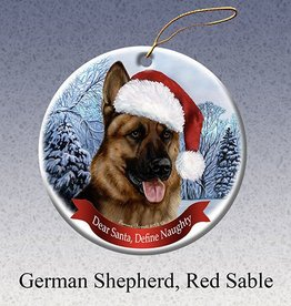 Pet Gifts Round Ornament German Shepherd