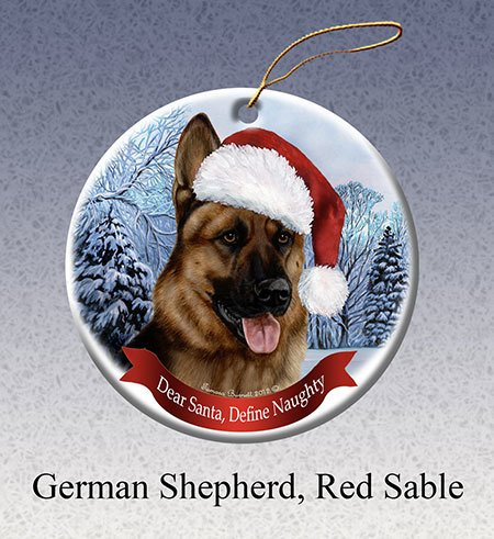 Pet Gifts Round Ornament German Shepherd Captivating Canines