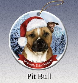 Pet Gifts Round Ornament Pitbull