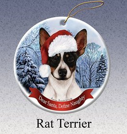 Pet Gifts Round Ornament Rat Terrier