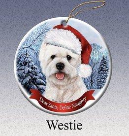 Pet Gifts Round Ornament Westie