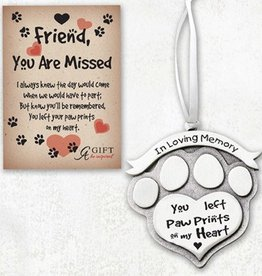 In Loving Memory-You left Paw Prints Ornament