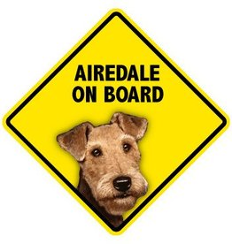 Pet On Board Sign Airedale Terrier